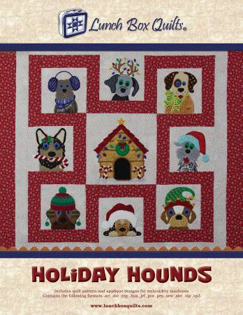 Holiday Hounds Applique - Machine Embroidery CD