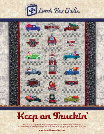 Keep On Truckin Applique Embroidery with CD