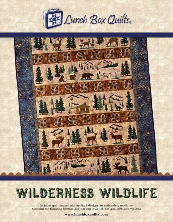 Wilderness Wildlife Machine Embroidery
