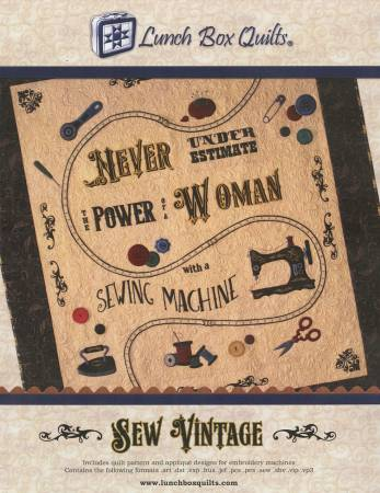 Sew Vintage Machine Embriodery by Lunch Box Quilts
