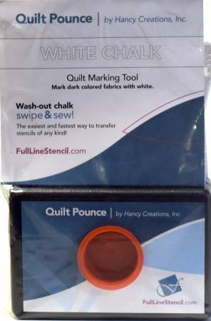 Stencil Chalk Transfer Quilt Pounce Pad White