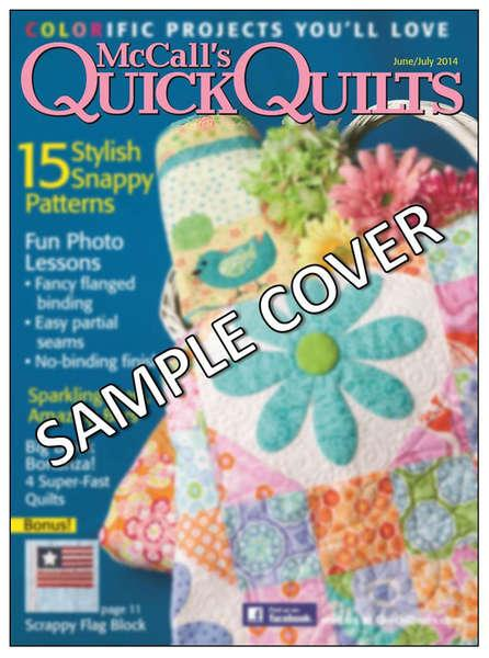 McCall's Quick Quilts August/September 2015