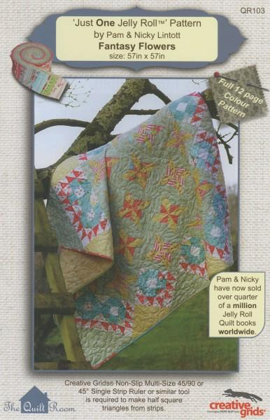 The Quilt Room Fantasy Flowers- Just One Jelly Roll
