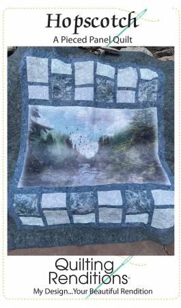 Hopscotch - A Beginner Pieced Panel Quilt Pattern - 56.5 x 72.5