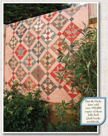 Flower Baskets Just One Jelly Roll Pattern by Pam & Nicky Lintott QR128