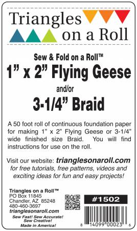 Sew & Fold Flying Geese / Braids On A Roll 1in x 2in x 50ft Roll