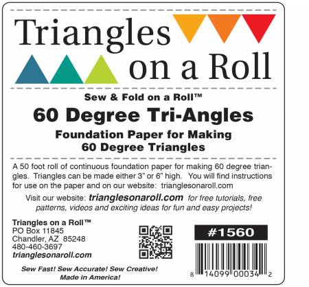 Triangles On A Roll 60 Degree Triangle 50ft Roll
