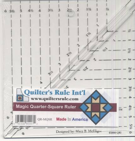 Quilter's Rule Magic Quarter Square Ruler