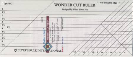 Quilter's Rule Wonder Cut Ruler 6 1/2in x 14 1/2in