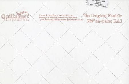 Quiltsmart 2-1/2in Grid On Point Fusible QS65064D