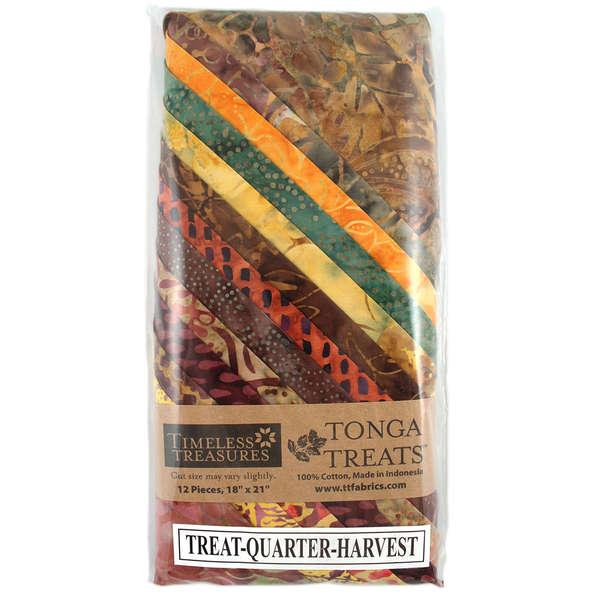 Tonga Treat Fat Quarters Harvest (18in x 21in) 12pcs - Timeless Treasures
