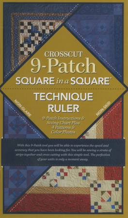 Crosscut 9 Patch Ruler with Book