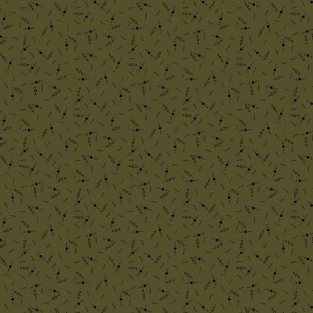 Country Meadow Green Country Dots