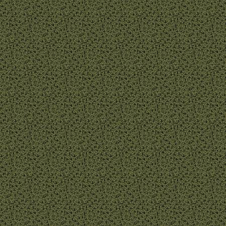 Country Meadow Green Ditsy