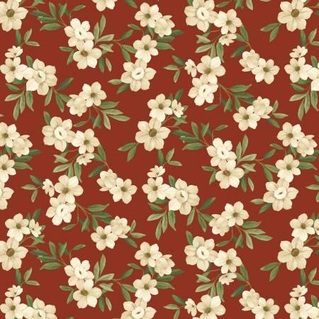 Winter Botanicals White Blooms Red