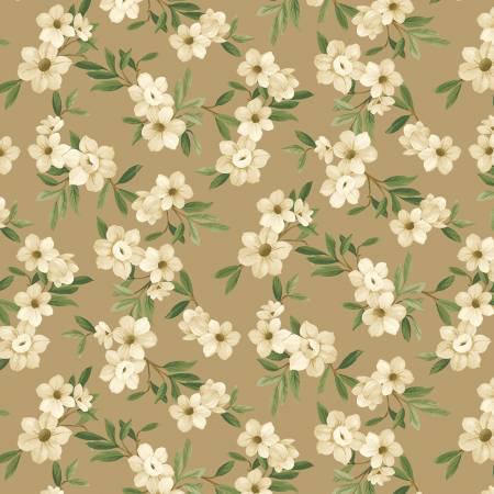 Winter Botanicals White Blooms Tan