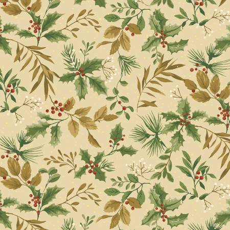 Winter Botanicals Holly and Leaves Cream