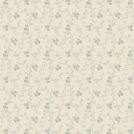 Bountiful Blue Cream Ditzy Floral