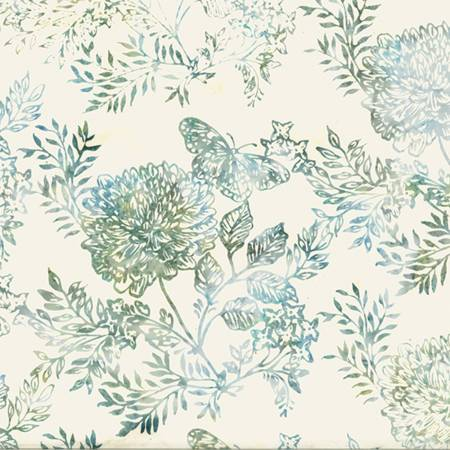 HOFF- Butterfly Garden Blue/Green Bali Batiks