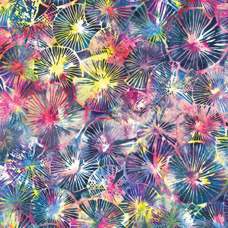 Agate - Textured Lily Pads Batik