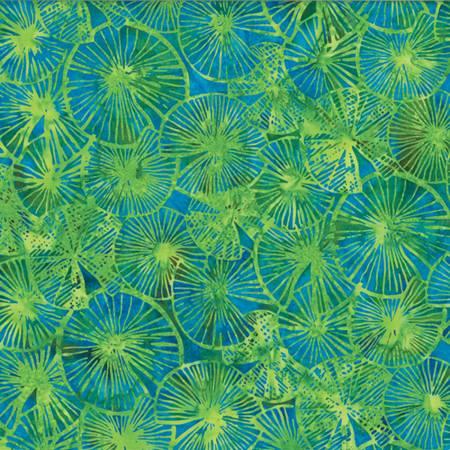 Parakeet Textured Lily Pads Bali Batik R2251-271