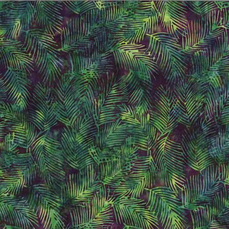 HOFF- Fringe Leaf Jungle Green Bali Batiks