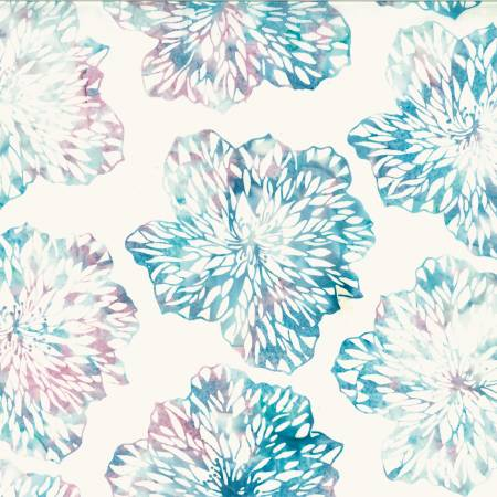 Cotton Candy Glass Flower Batik