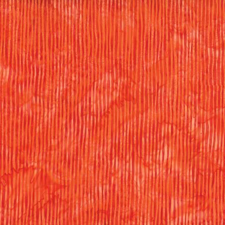 Hoffman Bali Batik Tangerine Skinny Stripes