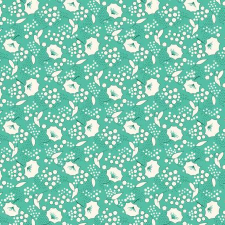 Sew Charming - Aqua Gladiolus