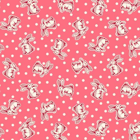 Sew Charming - Coral Bunnies
