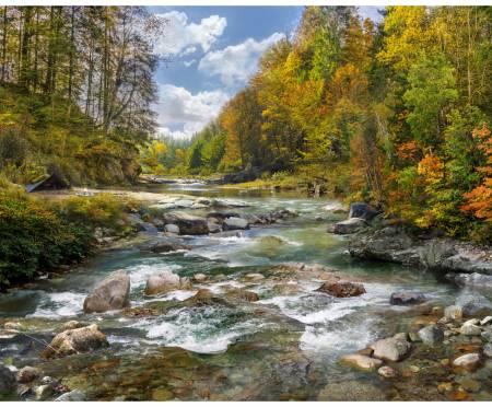 Rusty Rocky River Digital Panel 34.75in x 42.875in