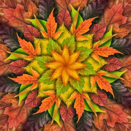 Autumn Dream Big Leaf Digital Panel