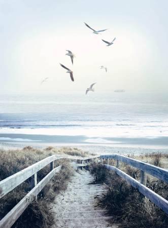 Atlantic Beach Boardwalk Scenic Digital 43-1/2in x 32in