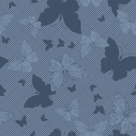 Navy Paradigm Shift Butterflies Digitally Printed