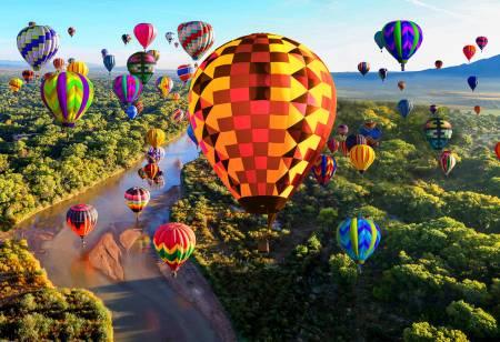 Hoffman Spectrum Balloons Digitally Printed Panel