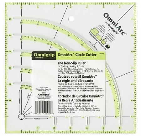 Omnigrip OmniArc Circle Cutter Ruler 8in Square