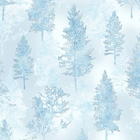 A Winter's Sky - Trees - Ice/Blue/Silver