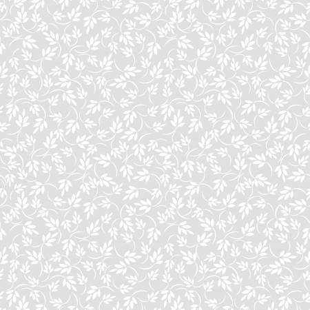 White on White Leaves - Ramblings 11   RA11772-W
