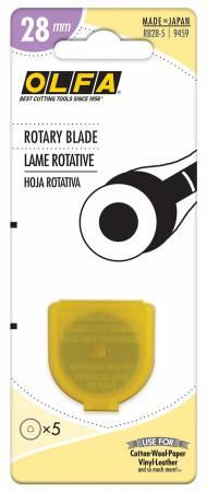 Olfa 28mm Rotary Blade Refill - 5 pack