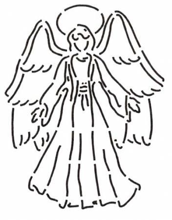 Quilt Stencil Angel