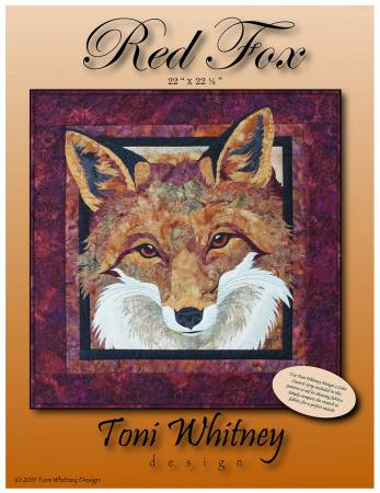 Red Fox Applique Pattern 22x 22.5 by Toni Whitney Designs