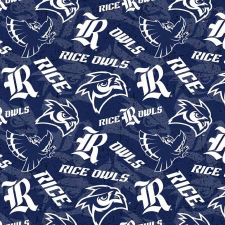 NCAA-Rice Owls Tone on Tone Cotton RIC-1178