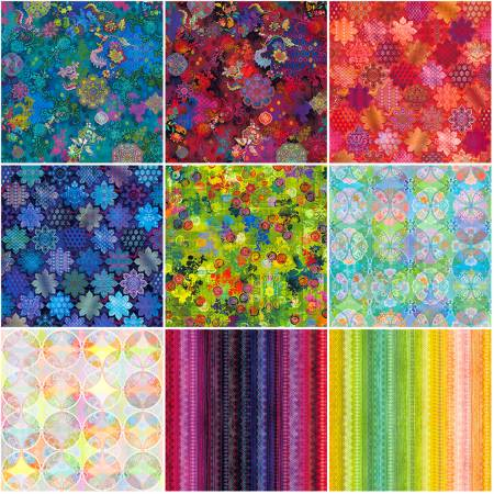 10in Squares Flourish Digital, 42pcs, 2 bundles per pack