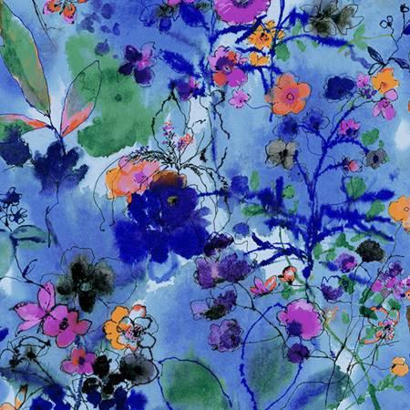 Bloom Bloom Butterfly - Wild Meadow - Twilight Fabric