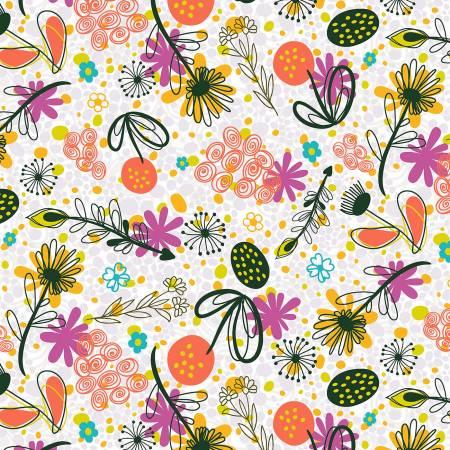 Flower Doodles Potpourri Magenta