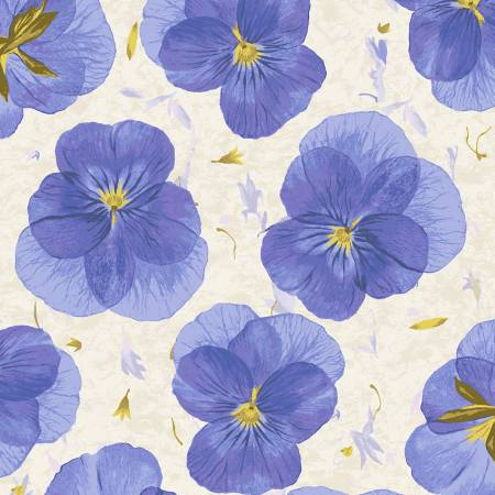True Blue Pansy Paper