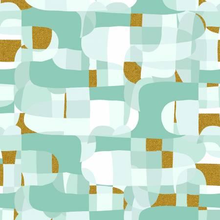 Mint Abstract w/Metallic