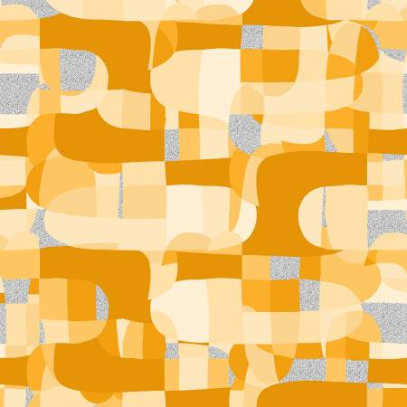 Shiny Objects Glitz and Glamour by RJR Studio for RJR Fabrics - Abstract - Sunshine - Metallic