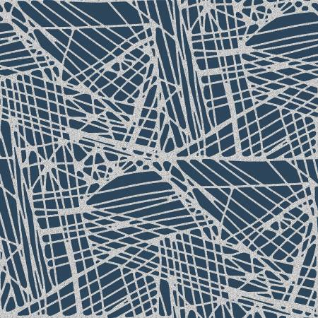 Shiny Objects Glitz and Glamour by RJR Studio for RJR Fabrics - Fiberglass - Blue Note - Metallic