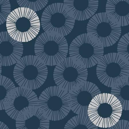 Shiny Objects Glitz and Glamour by RJR Studio for RJR Fabrics - Eclipse - Blue Dusk - Metallic